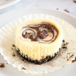 Easy Mini Chocolate Swirl Cheesecakes