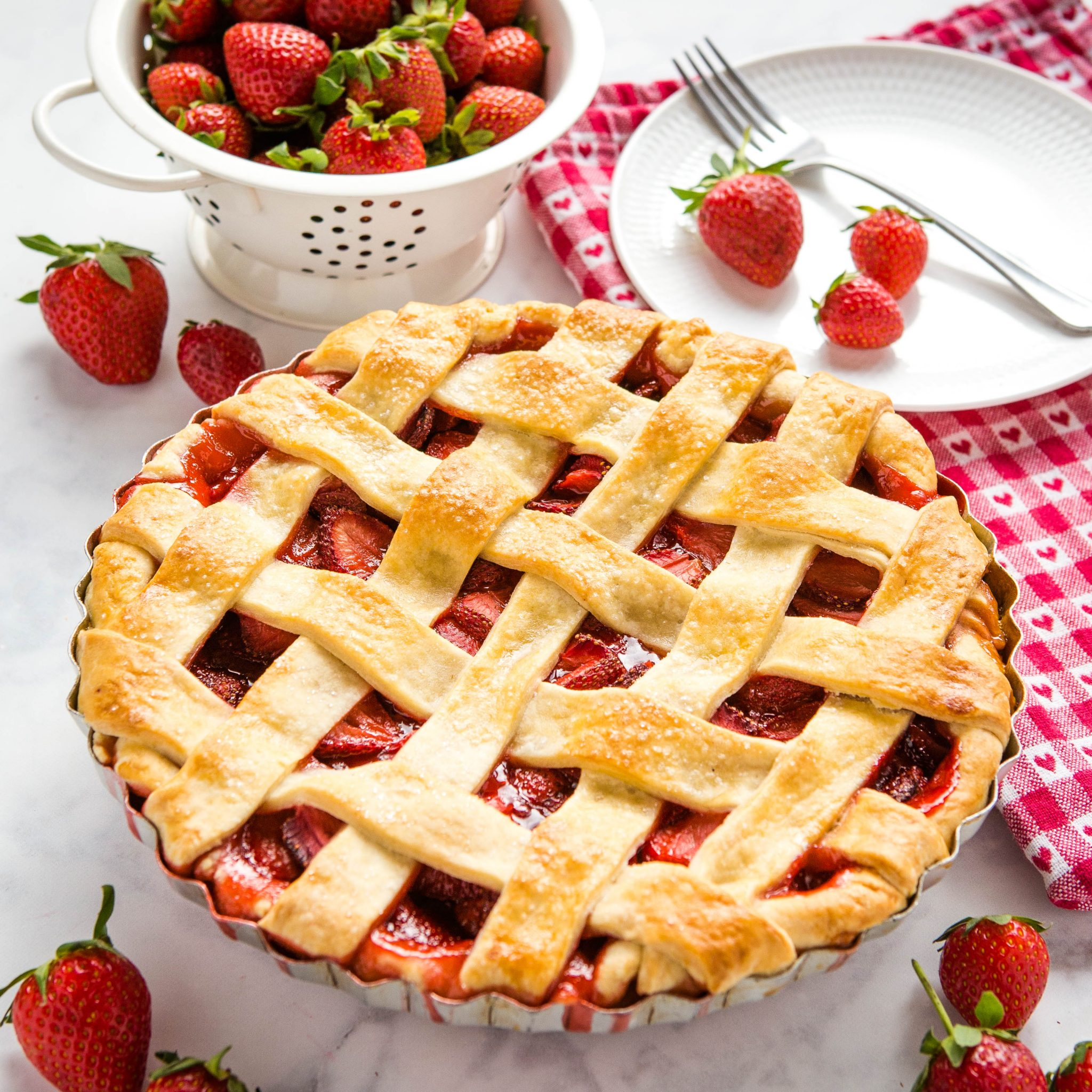 Classic Strawberry Pie Summer Dessert The Busy Baker