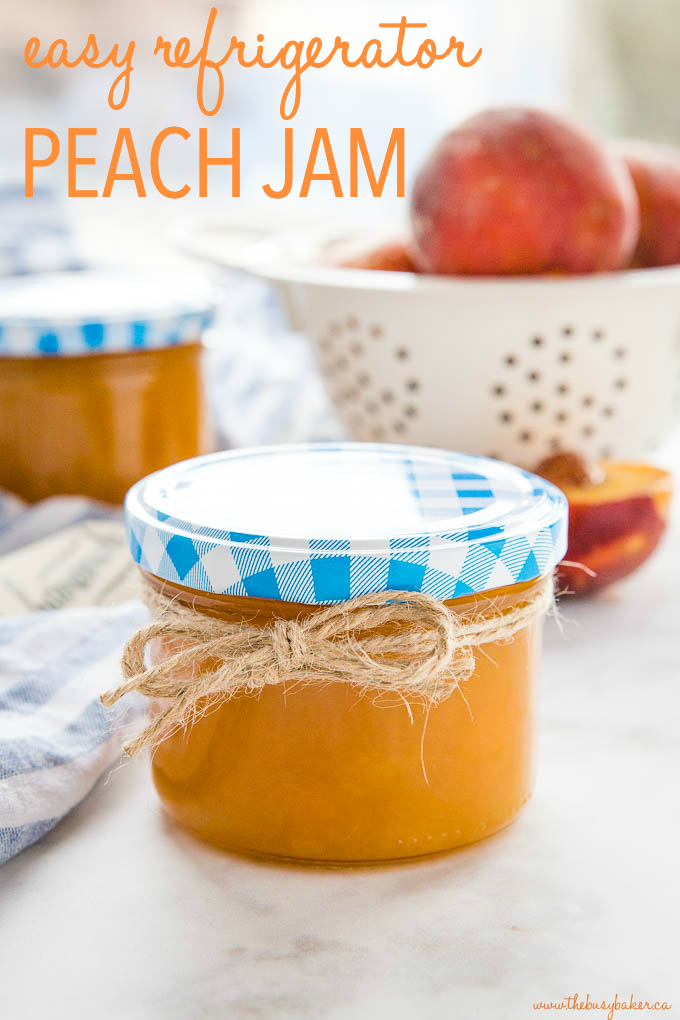 Easy Freezer Peach Jam