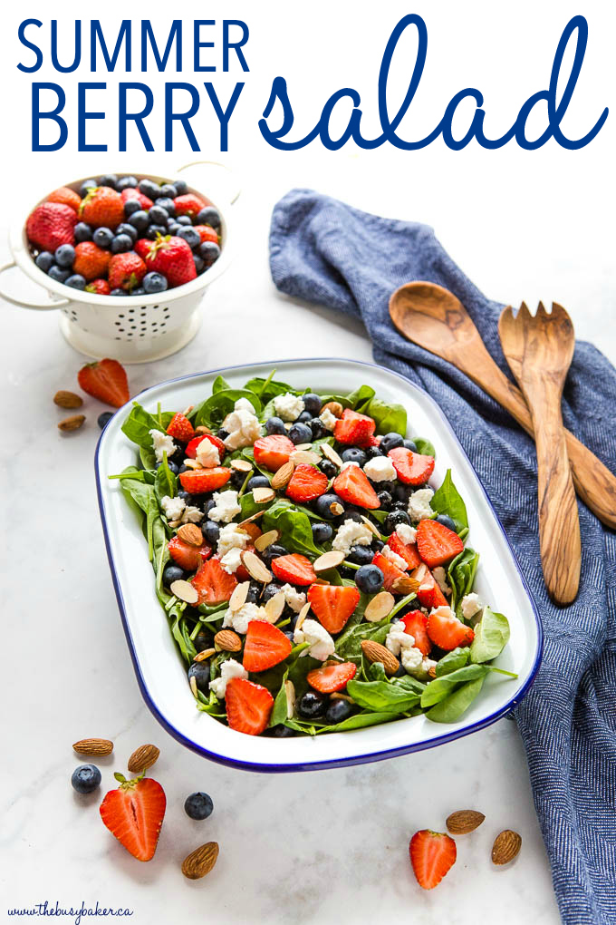 Summer Berry Salad with Creamy Lemon Vinaigrette Dressing