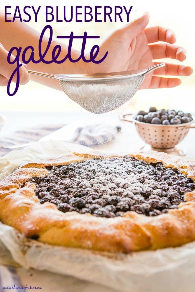 Easy Homemade Blueberry Galette