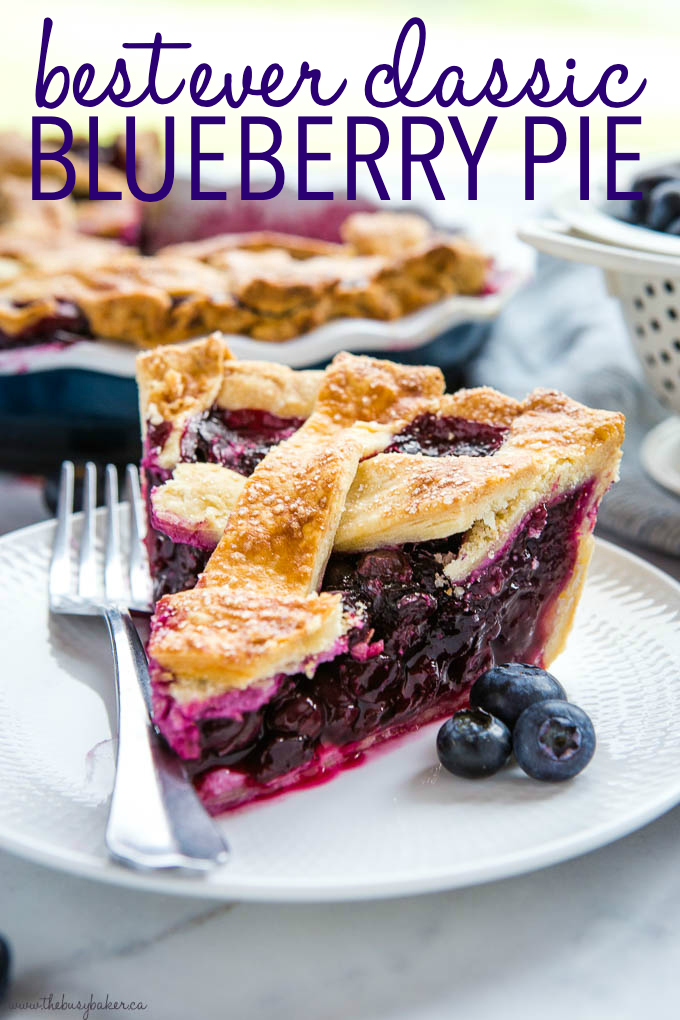 Best Ever Classic Blueberry Pie