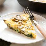 Easy Skillet Mushroom Spinach Frittata