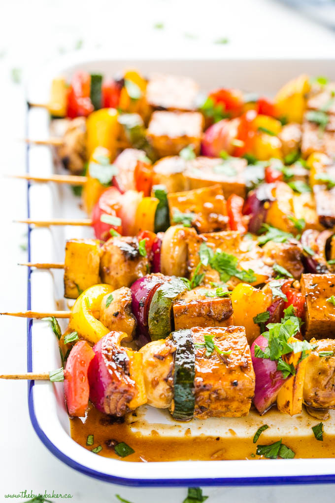 tofu skewers with veggies