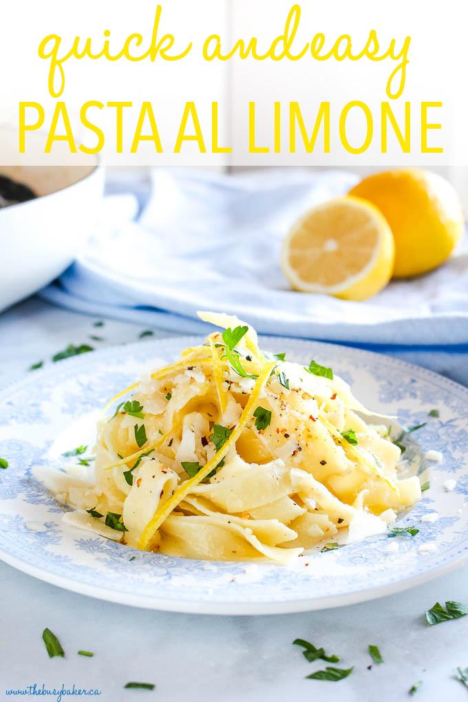 Quick and East Pasta al Limone