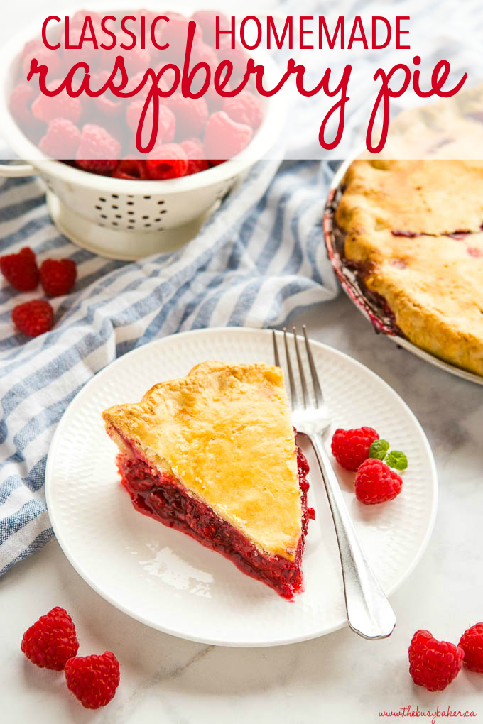 Classic Homemade Raspberry Pie