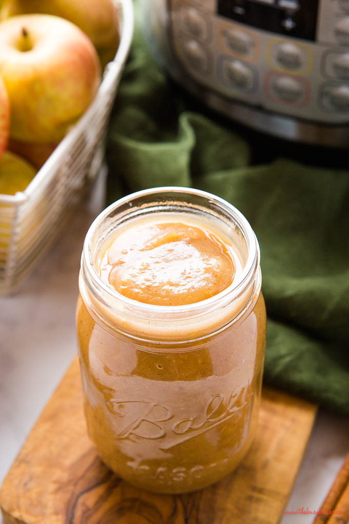 mason jar full of applesauce