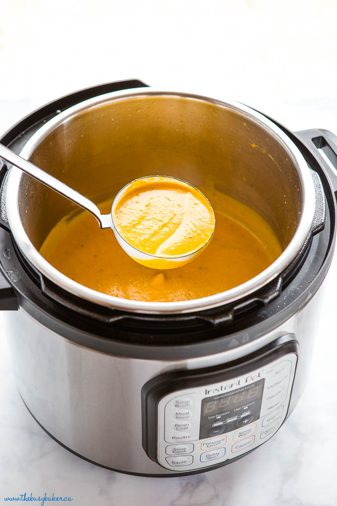 butternut squash soup in the Instant Pot