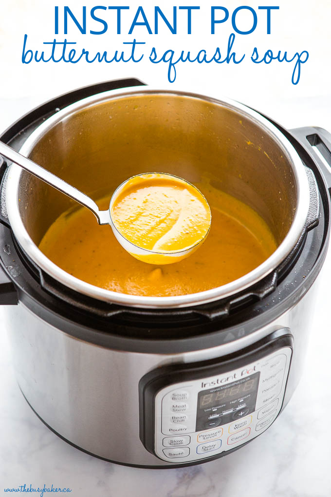 Instant Pot Creamy Butternut Squash Soup Recipe