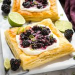 Blackberry Lime Mascarpone Tarts