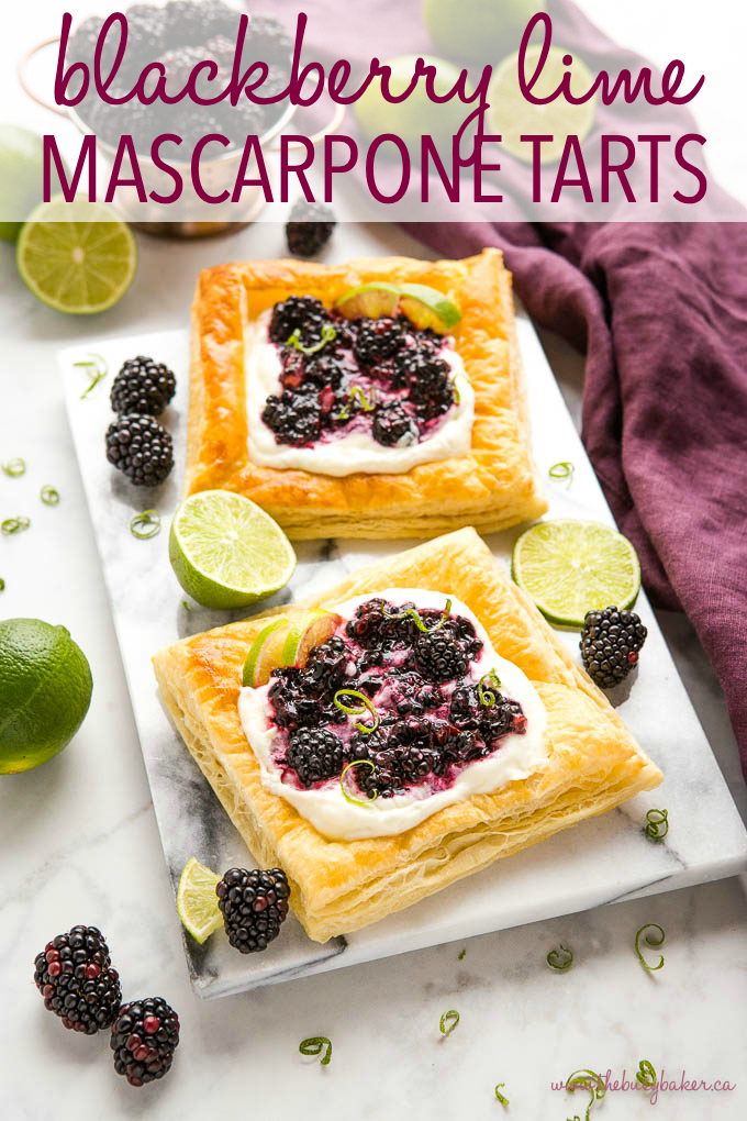 Blackberry Lime Mascarpone Tarts