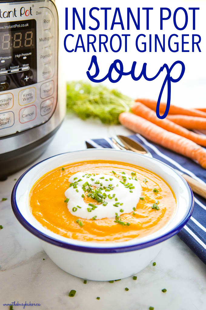 Instant Pot Creamy Carrot Ginger Soup