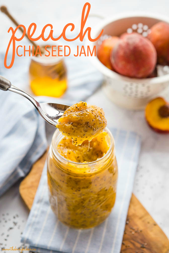 Healthy Chia Seed Peach Jam