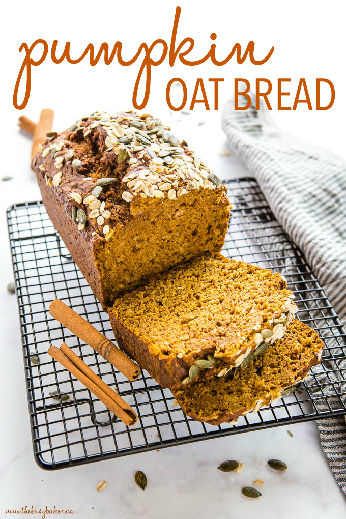 Healthy Pumpkin Oat Bread Recipe