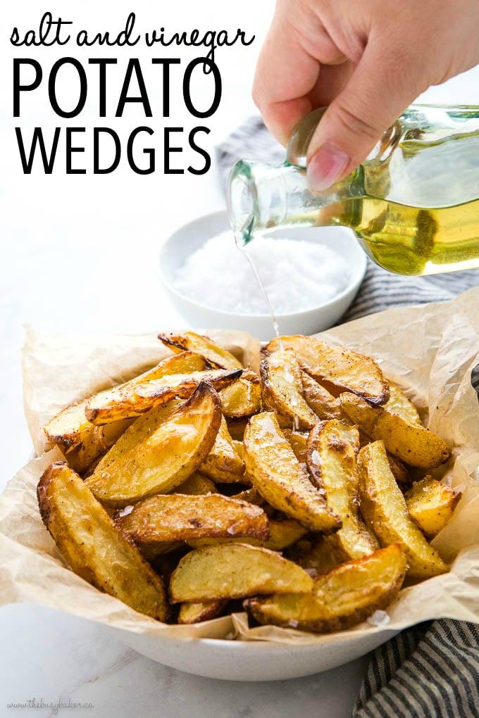 Crispy Salt and Vinegar Potato Wedges