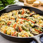 Zucchini Tomato and Eggplant Gratin