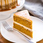 Pumpkin Cake with Salted Caramel Frosting