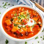 Easy Southwest Sweet Potato Soup