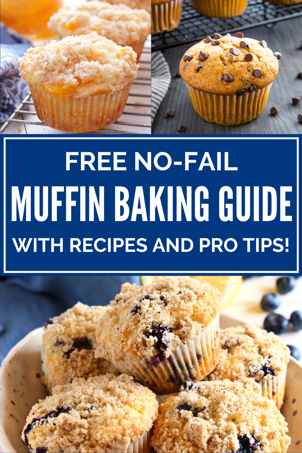 Free No-Fail Muffin Baking Guide! Make the best muffins you've ever made with my recipes and pro tips! Sign up at thebusybaker.ca! #recipes #muffins #protips #howtobake #bakingtips #howtobakemuffins via @busybakerblog