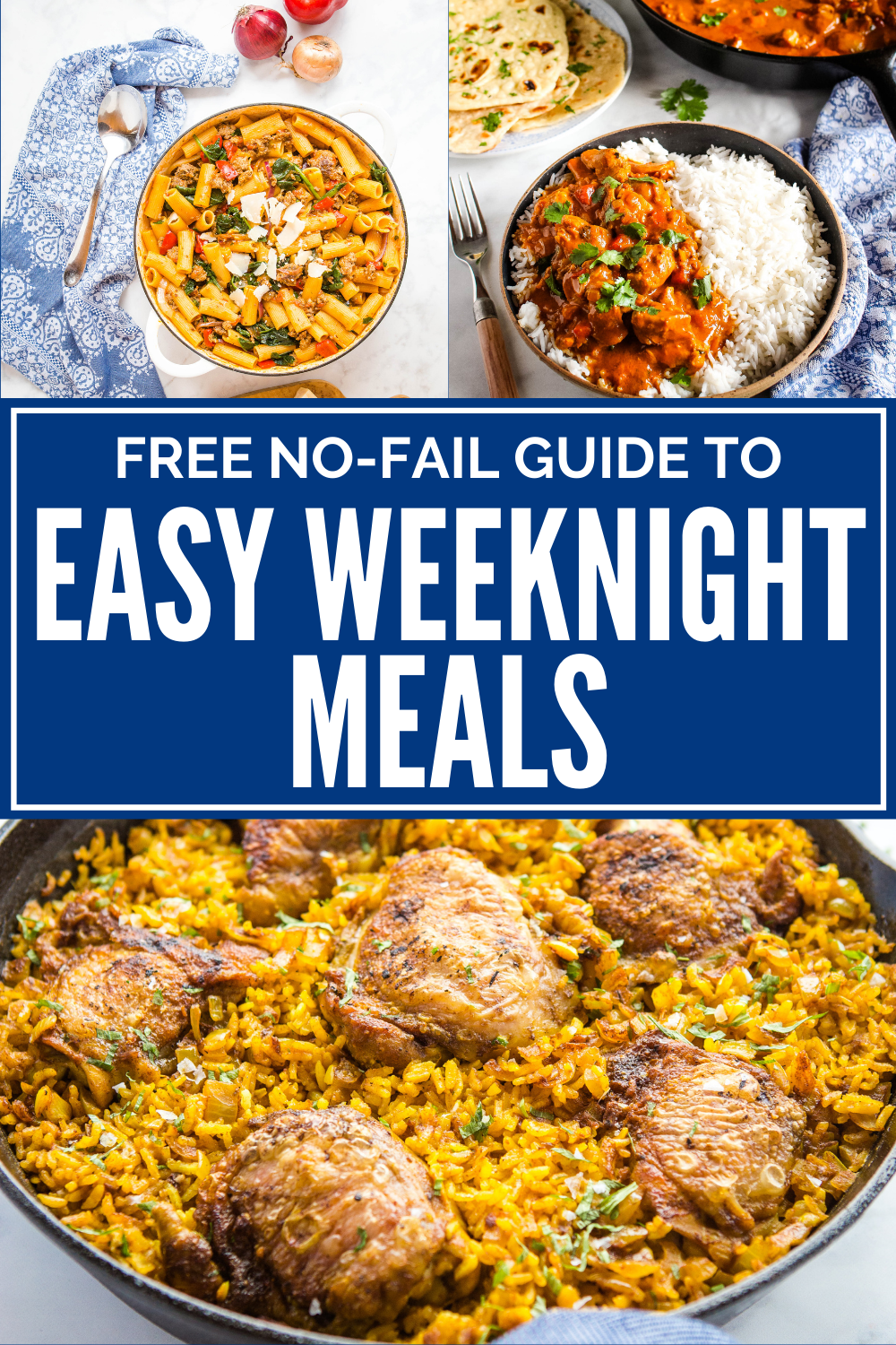 Free Easy Weeknight Meals E-Course! Recipes and Pro tips! Sign up today at thebusybaker.ca! #recipes #freecourse #ecourse #mealplanning #mealprep #familymeals via @busybakerblog