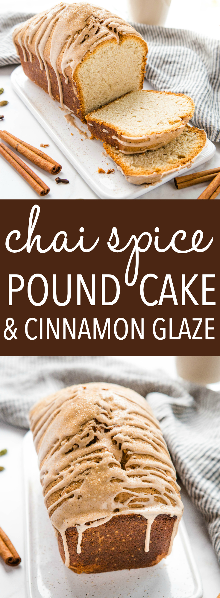 This Chai Spice Pound Cake with Cinnamon Glaze is a perfectly simple easy-to-make dessert made with sour cream, chai spices, and a sweet & spicy cinnamon glaze. Recipe from thebusybaker.ca! #chai #spice #cake #cinnamon #poundcake #howtomakepoundcake #tea via @busybakerblog