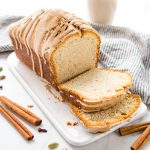 Chai Spice Pound Cake with Cinnamon Glaze