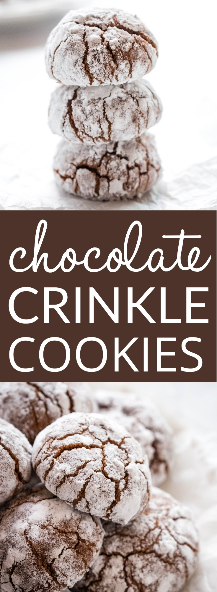 These Chocolate Crinkle Cookies are an easy-to-make cookie recipe that's perfect for Christmas! Made with real chocolate and coated in sugar for the perfect holiday treat! Recipe from thebusybaker.ca! #holiday #cookies #baking #christmasbaking #chocolate #chocolatecrinklecookies #cookietray #homemade #holidays via @busybakerblog