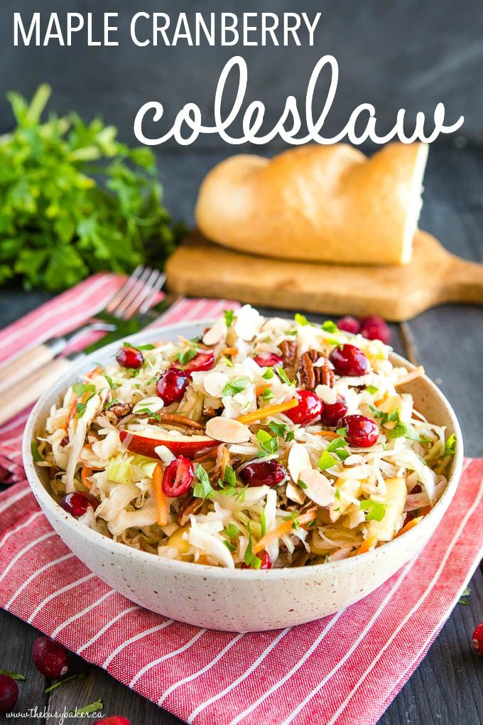 Maple Cranberry Coleslaw Recipe