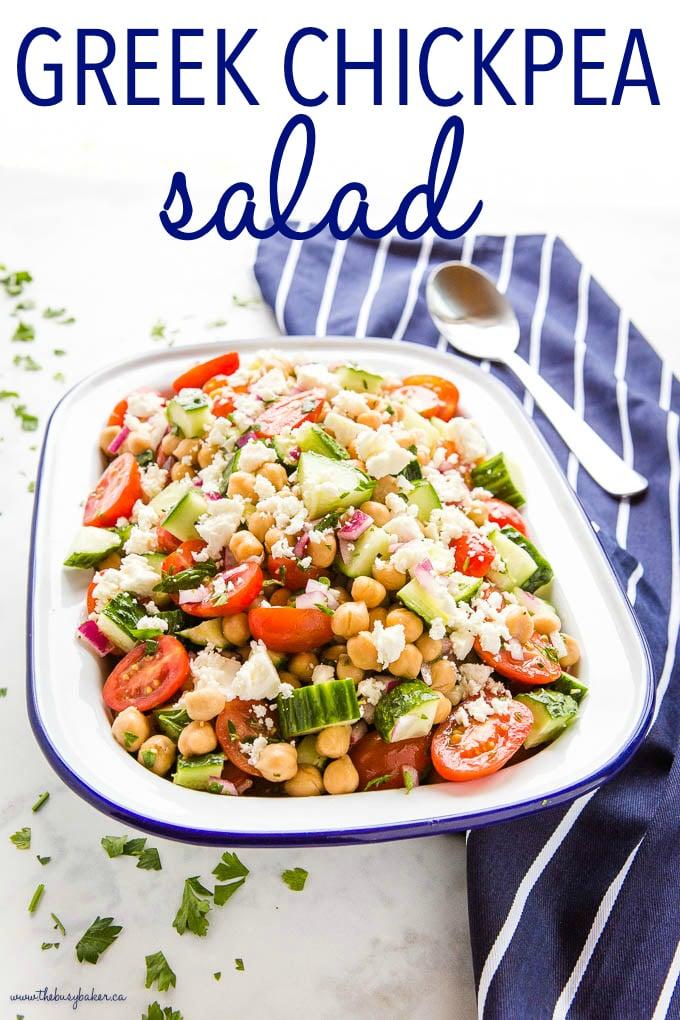 Greek Chickpea Salad Recipe