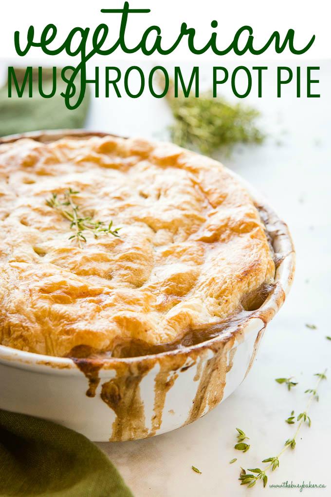 Vegetarian Mushroom Pot Pie Recipe