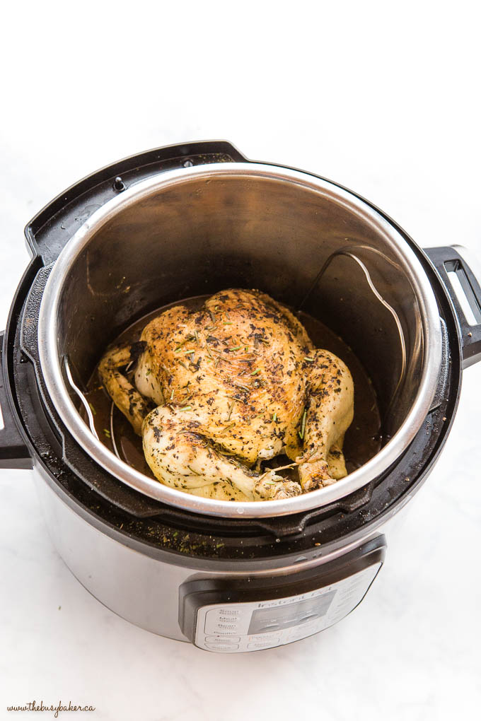 Roasted Chicken with crispy skin in Instant Pot