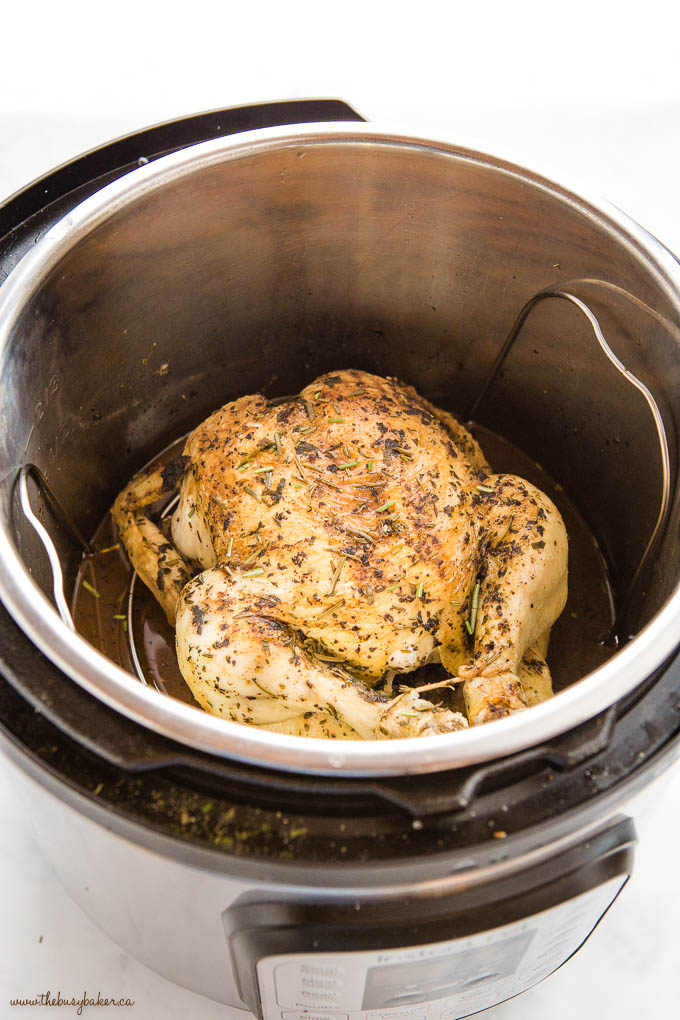 Roasted Chicken in the Instant Pot with trivet