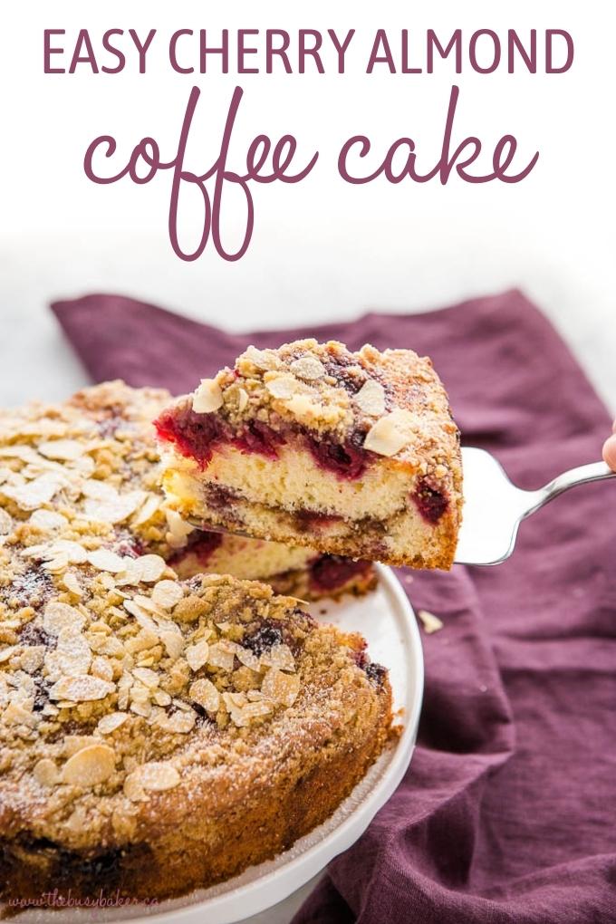Cherry Almond Coffee Cake Recipe
