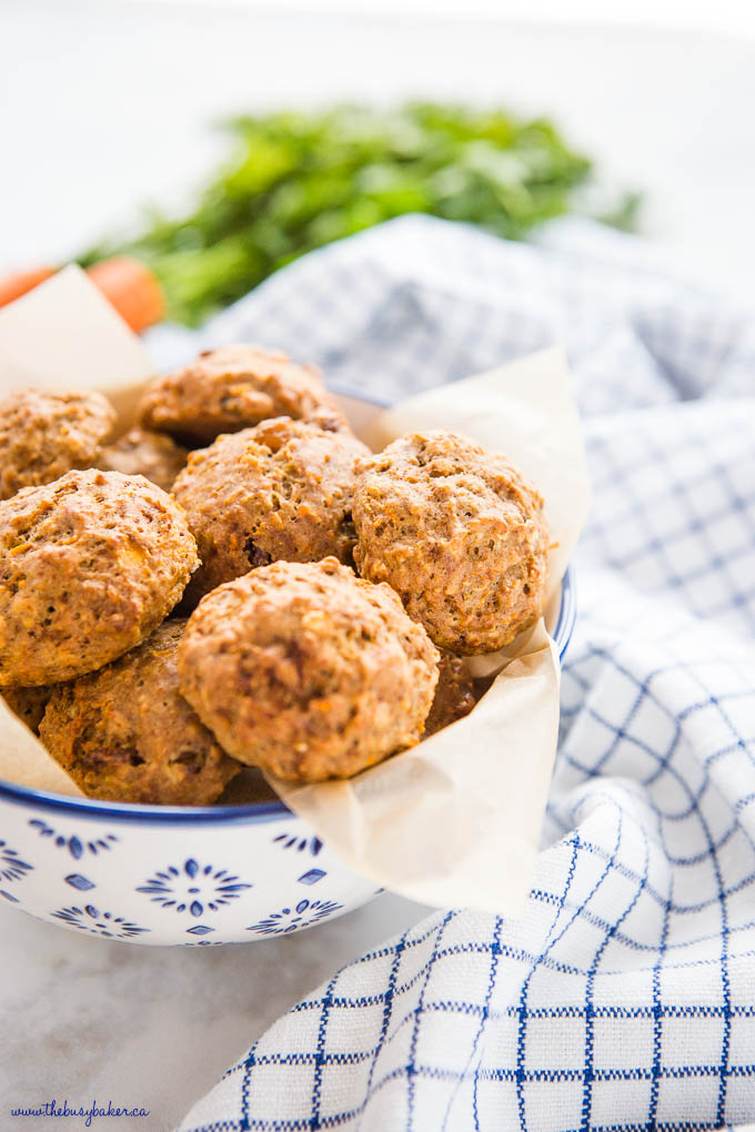bowl of healthy carrot cake cookies