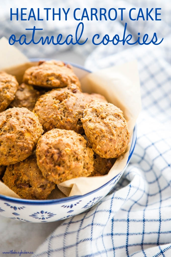 Healthy Carrot Cake Oatmeal Cookies