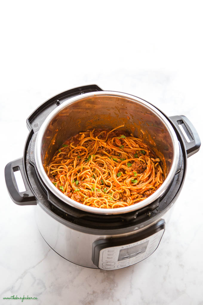 Spaghetti and Meat Sauce in the Instant Pot