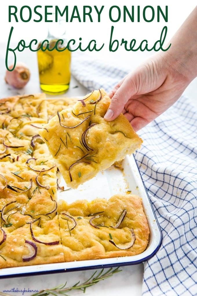 Rosemary Onion Focaccia Bread Recipe