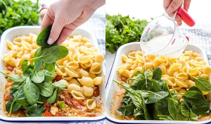 how to make healthy baked feta pasta viral recipe