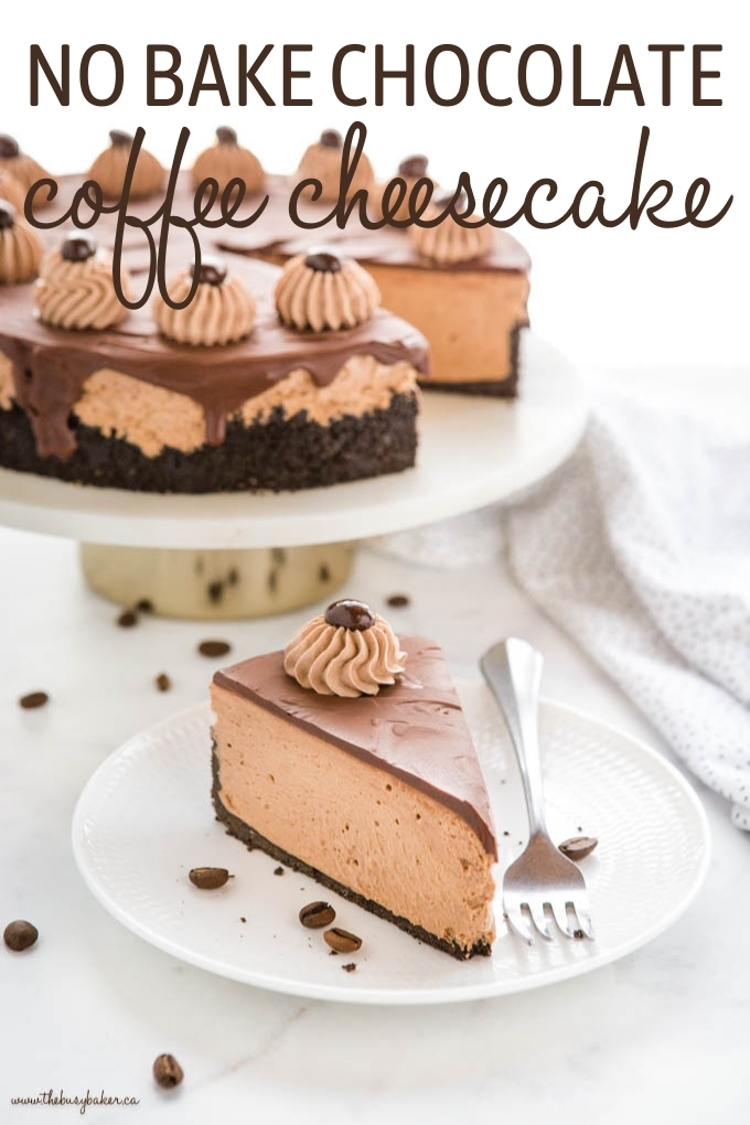 No Bake Chocolate Coffee Cheesecake Recipe