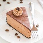 No Bake Chocolate Coffee Cheesecake