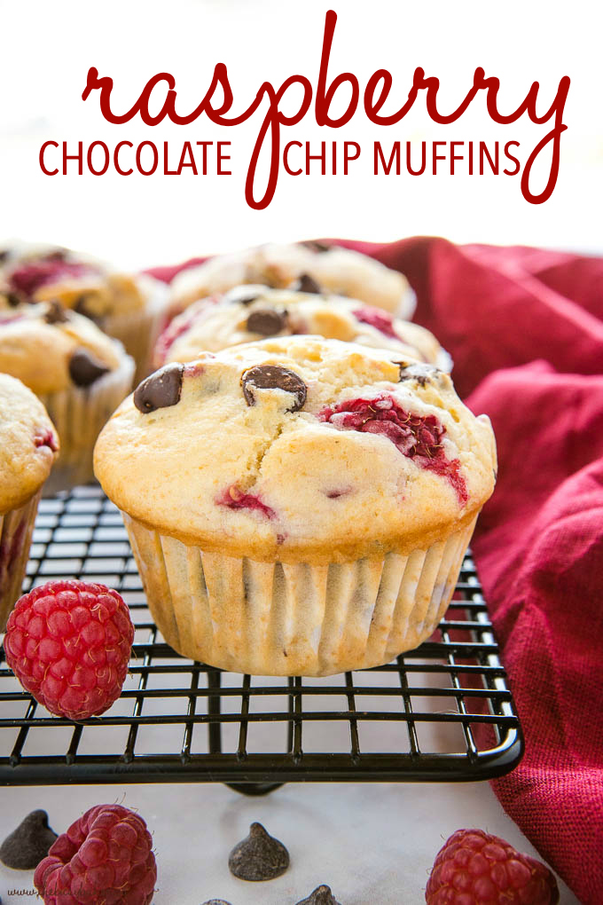 Raspberry Muffins with Chocolate Chips