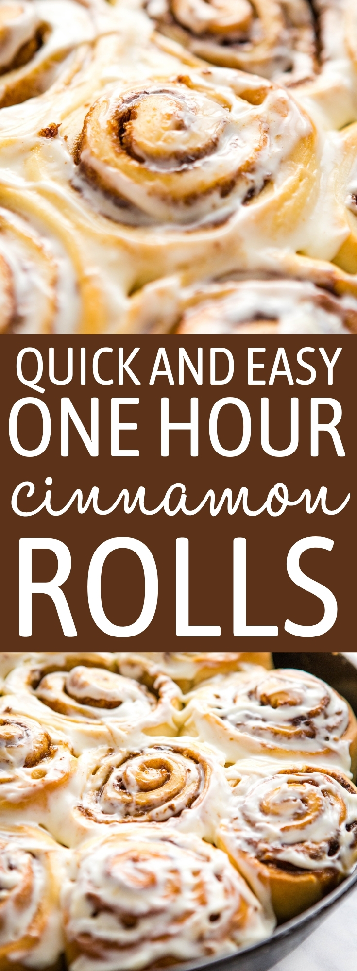 These Quick & Easy Cinnamon Rolls are the BEST simple cinnamon rolls to make in only 1 hour - with my pro tips and tricks! Fluffy, sweet and delicious with an easy cream cheese frosting! Recipe from thebusybaker.ca! #cinnamonrolls #onehourcinnamonrolls #easycinnamonrolls #quickcinnamonrolls #dessert #breakfast #brunch #easyrecipe #baking via @busybakerblog