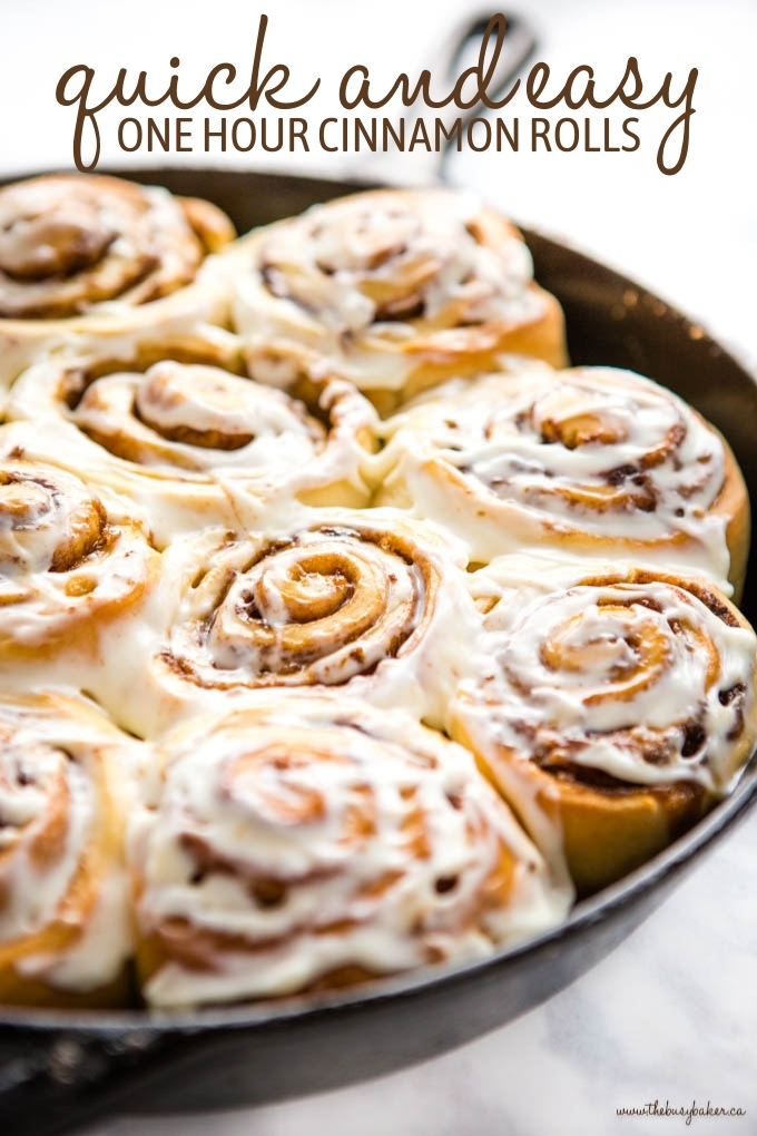 1 Hour Quick and Easy Cinnamon Rolls