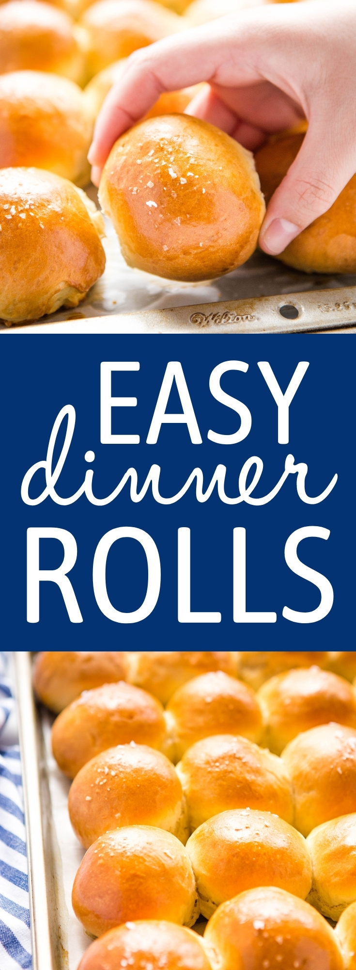 These Homemade Dinner Rolls are the perfect simple yeast rolls to make for all your holiday dinners - with my easy pro tips and tricks for fluffy and delicious dinner rolls every single time! Recipe from thebusybaker.ca! #homemadedinnerrolls #rolls #buns #baking #bread #holiday #sidedish #easydinnerrolls via @busybakerblog
