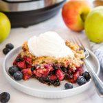 Instant Pot Apple Crisp with Berries