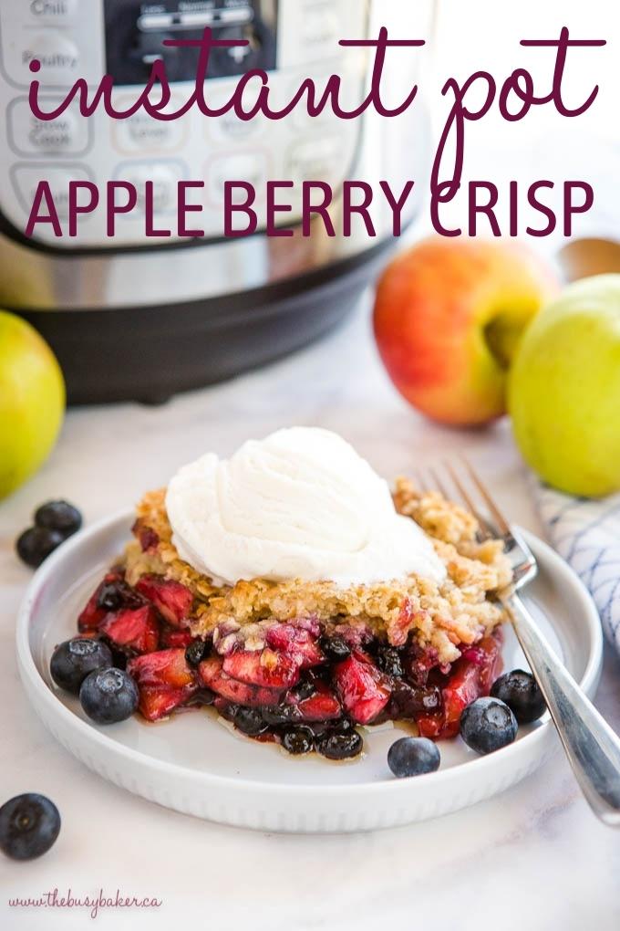 Instant Pot Apple Crisp with Berries Recipe