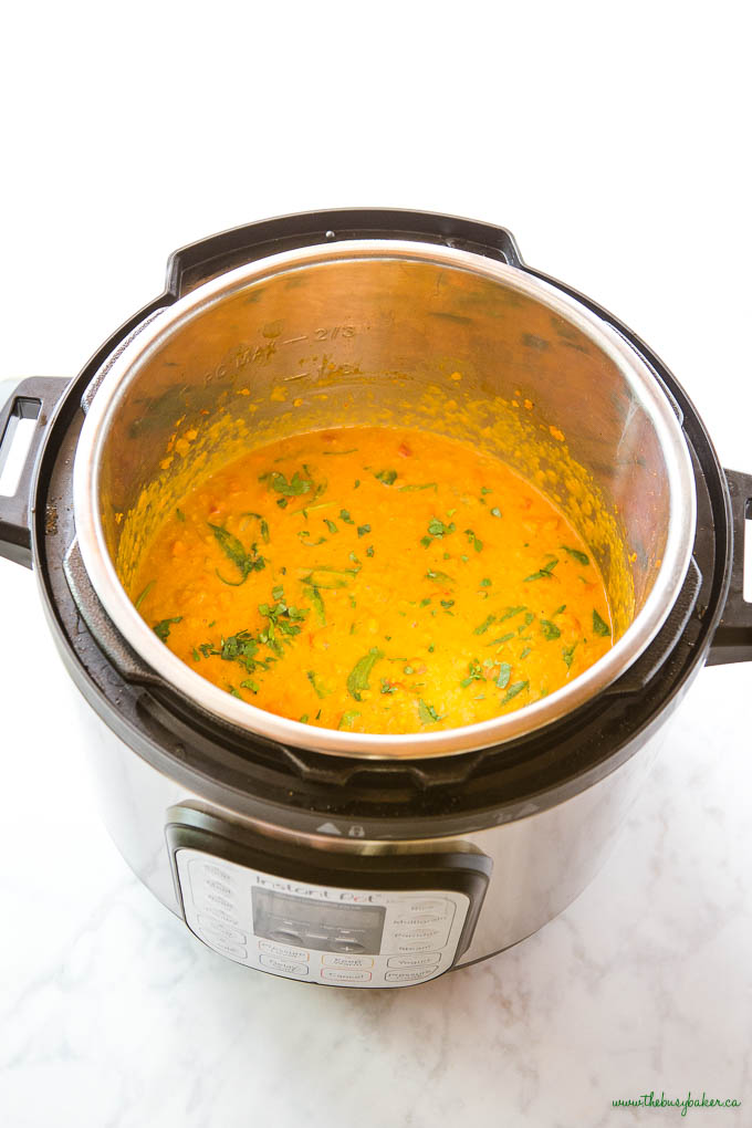 lentil curry in the Instant Pot
