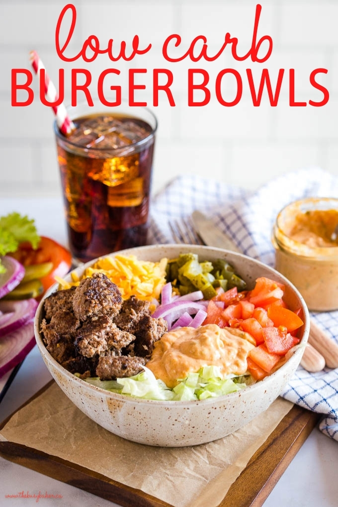 Keto Burgers in a Bowl recipe
