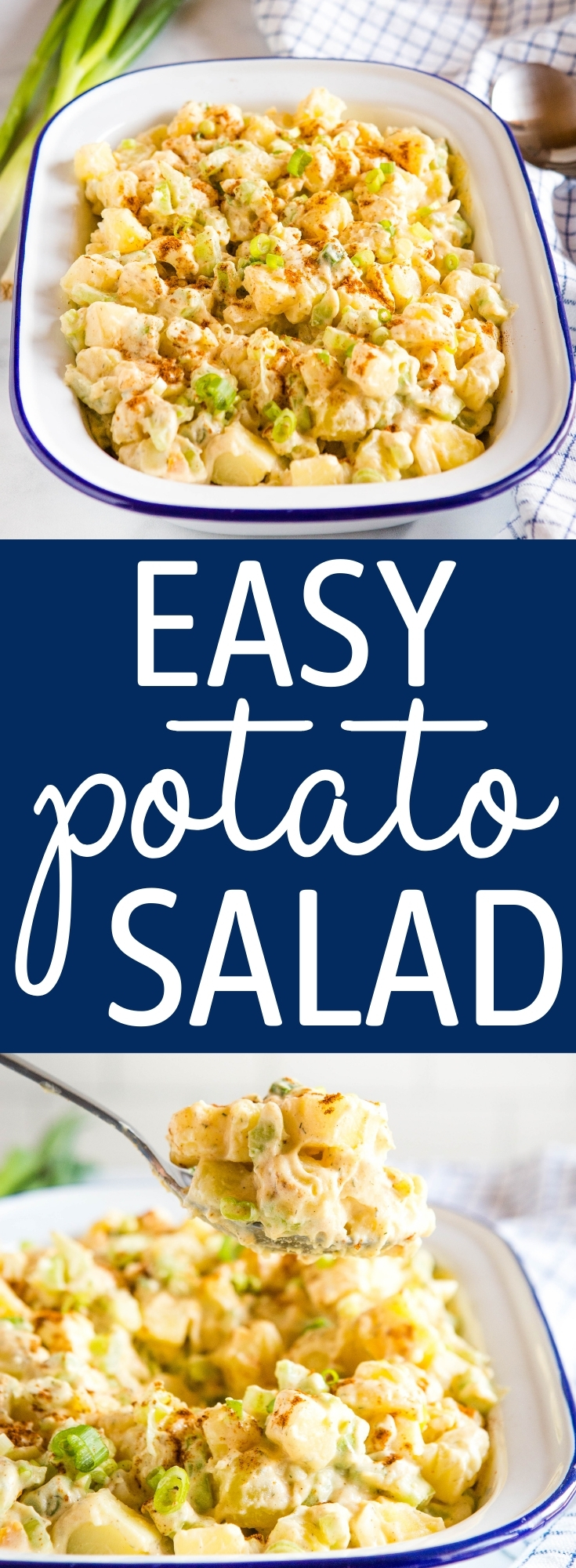 This Easy Potato Salad Recipe is aclassic potato salad that's perfect for a backyard barbecue! A crowd-pleasing side dish recipe for summer! Recipe from thebusybaker.ca! #classicrecipe #potatosalad #classicpotatosalad #easypotatosalad #sidedish #summer #barbecue #family via @busybakerblog