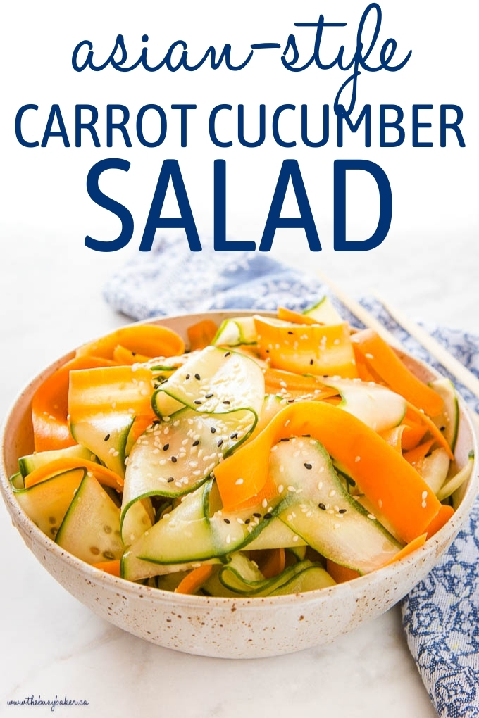 Asian Cucumber Salad with Carrots